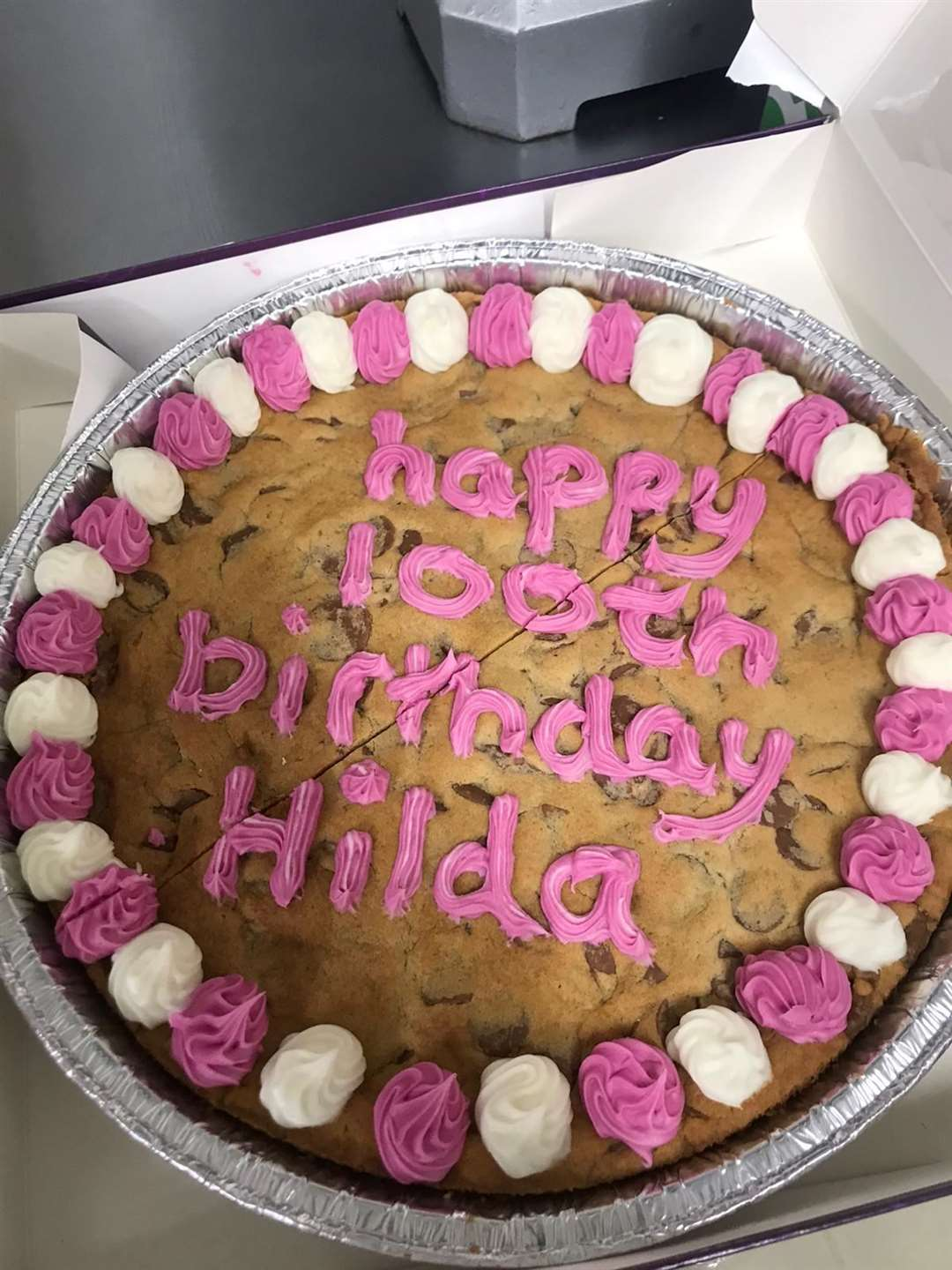 Hilda Wollaston's birthday cookie from Morrison's (44787362)