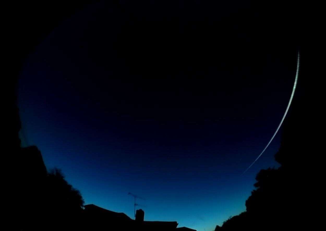 The UK Meteor Observation Network captured this image of a 'bright fireball', as seen over Cowbit on Sunday.Photo supplied. (16378628)