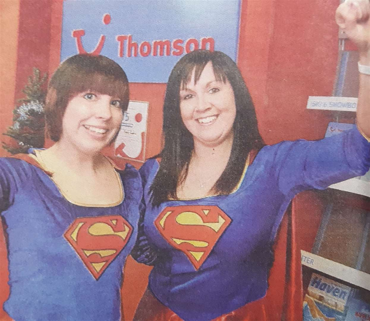 Supergirls Gemma Bowers and Tracy Wolde at Thomson's in 2011. (44034089)