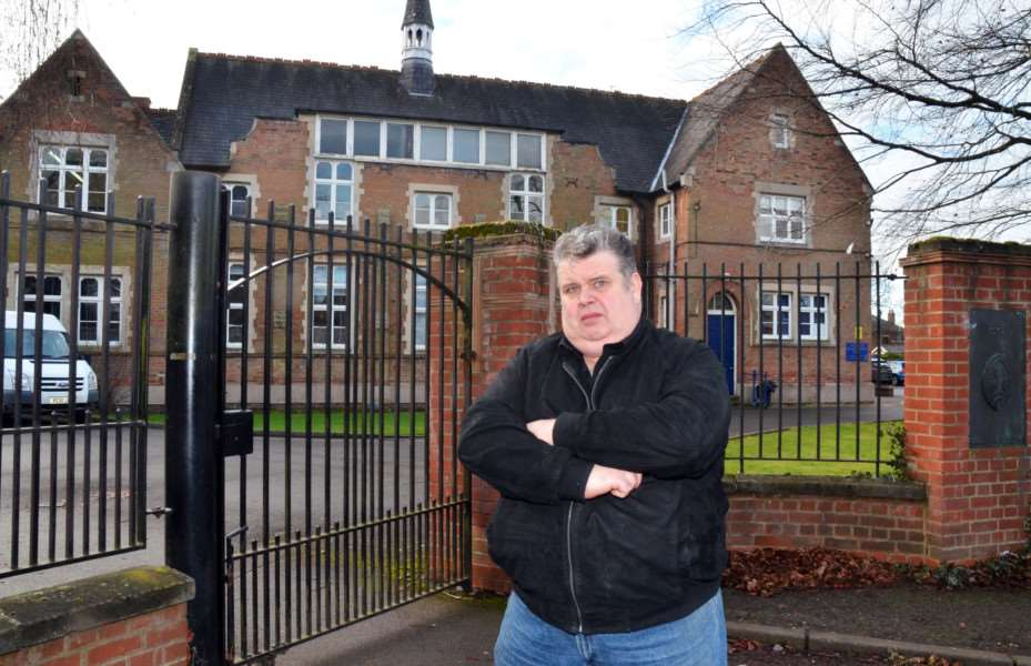 Dad Mick Flindall is bidding to be a governor at Spalding Grammar School. SG050218-101TW