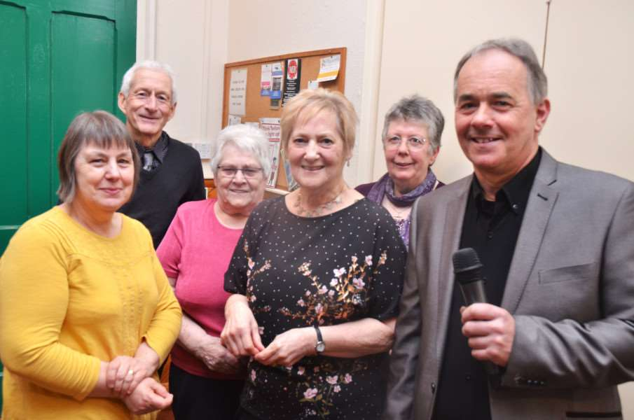 Lesley Barnes, Malcolm Kent, Gill Ward, June Taylor, Christine Austen and Steve Carmel at An Evening of Music at Saracen's Head village hall.