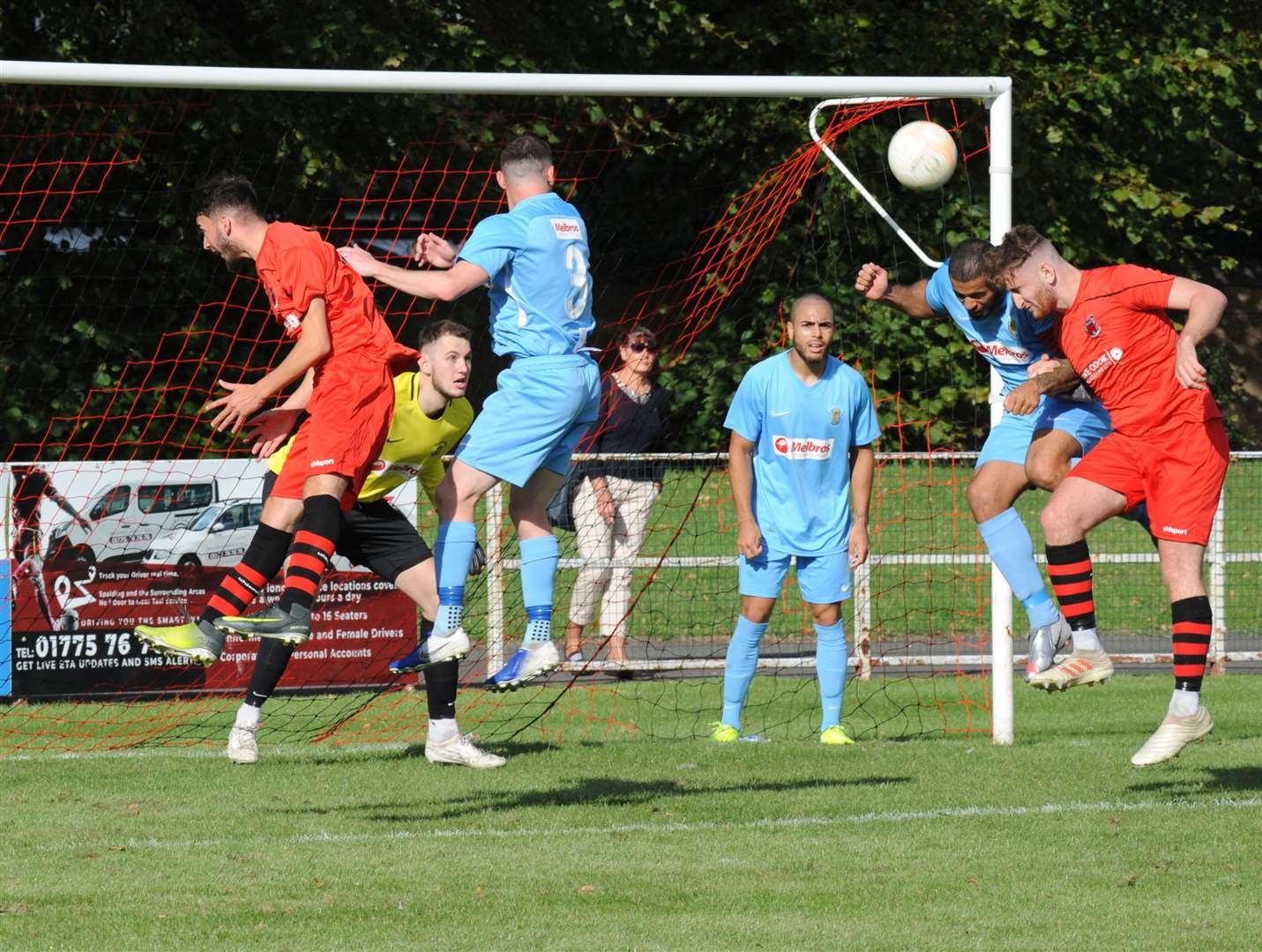 Pinchbeck United were beaten 6-0 at home by Rugby in the first league game of the season.