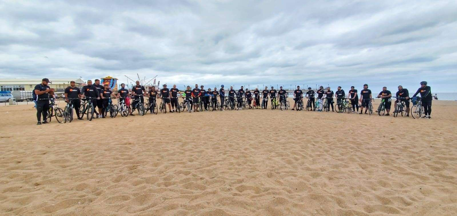 The group of 38 cyclists rode to Skegness from Peterborough (38943175)