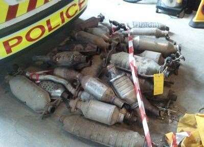 Catalytic converters are a target for thieves as they are coated in a precious metal that has a high value. Thieves will cut the catalytic converter from a parked car and sell them on to scrap metal dealers. Image supplied by Lincs Police. (13311263)