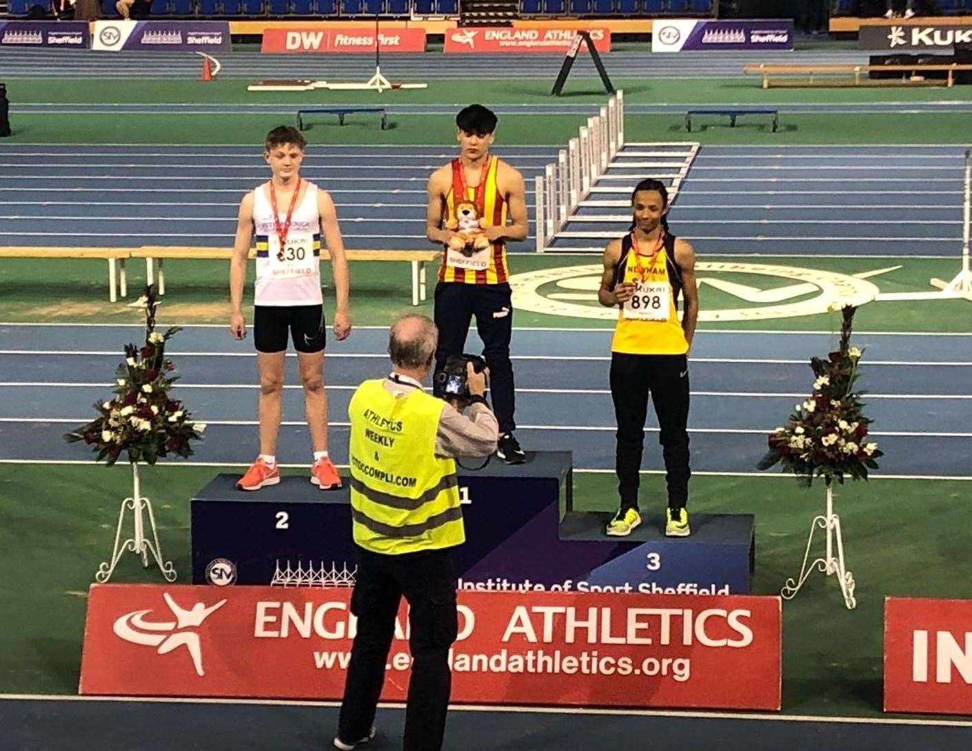 Max Roe, English national indoor 60m hurdles silver medallist.Photo supplied.