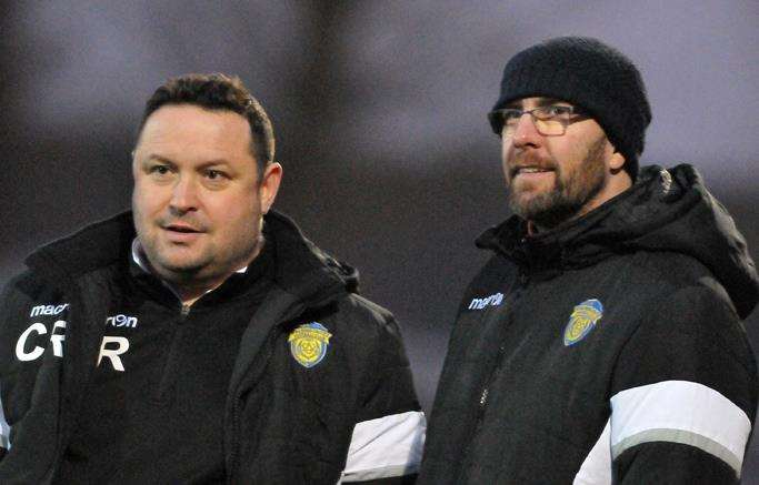 Matt Easton (right) was named caretaker manager following last weekend's departure of Chris Rawlinson