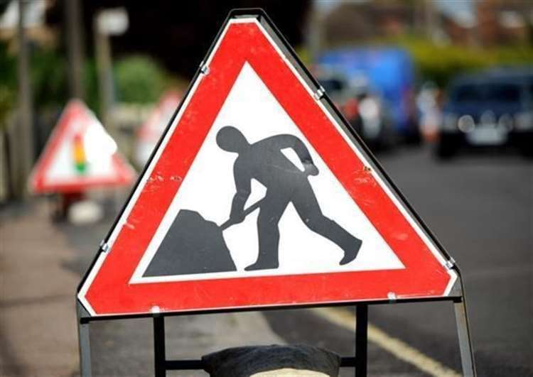 Roadworks have closed part of the motorway (43878044)