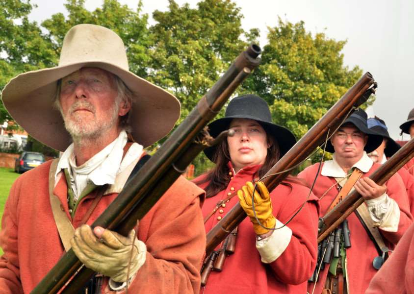 Eyes on the target at re-enactment weekend. (SG170917-119TW)