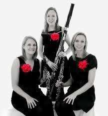 The Marylebone Trio, Helen James (left), Alexandra Davidson and Jemma Bausor (right). Photo by Michael Clement.