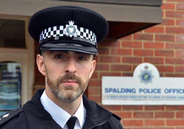 South Holland neighbourhood policing inspector Gareth Boxall. Photo by Tim Wilson. SG190517-203TW