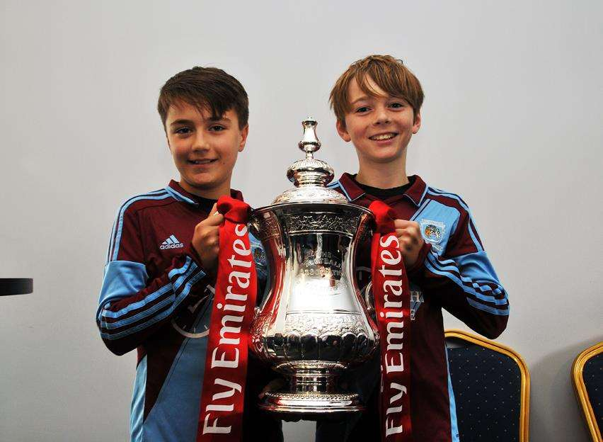 The FA Cup came to Outgang Road