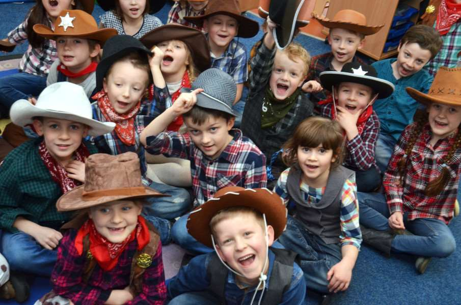 Weston Hills cowboys from Oak Class appeared in the school production. SG080218-232TW