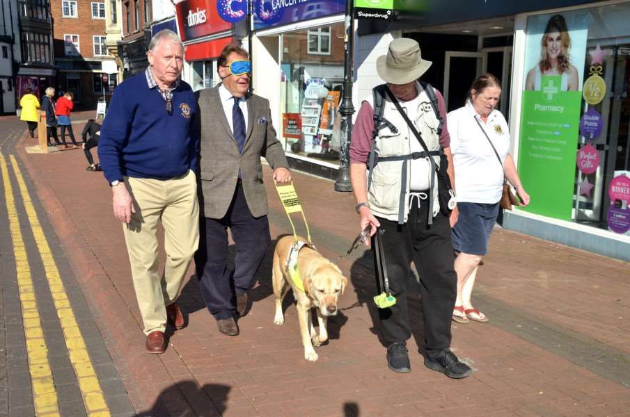 John Hayes attends Spalding Lions Club Awareness Day in Hall Place, Spalding.