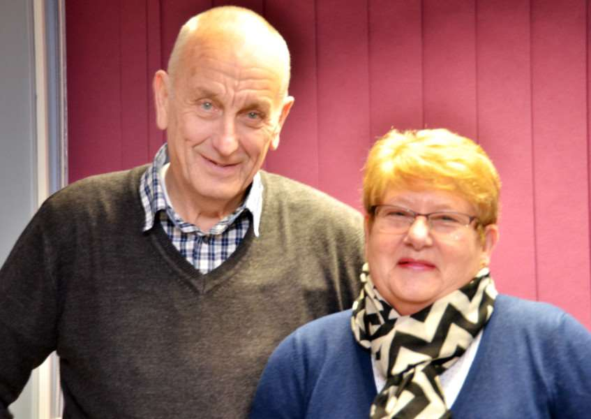 John and Sandra Lea want to keep the Donington club 'family' together. SG291217-106TW