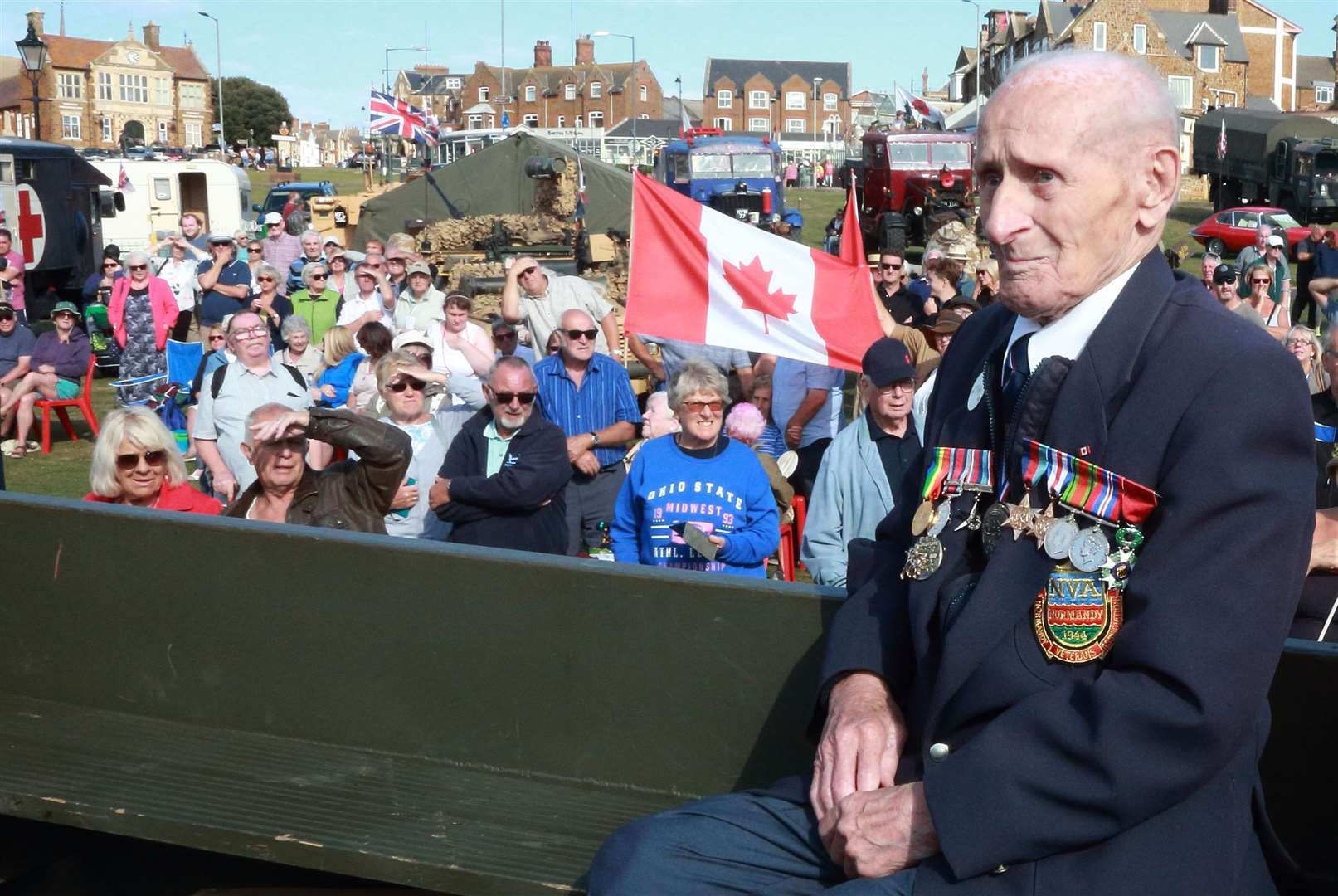 World War II veteran Ernie Covill at the Hunstanton Green Military Weekend.Photo by Chris Carter.