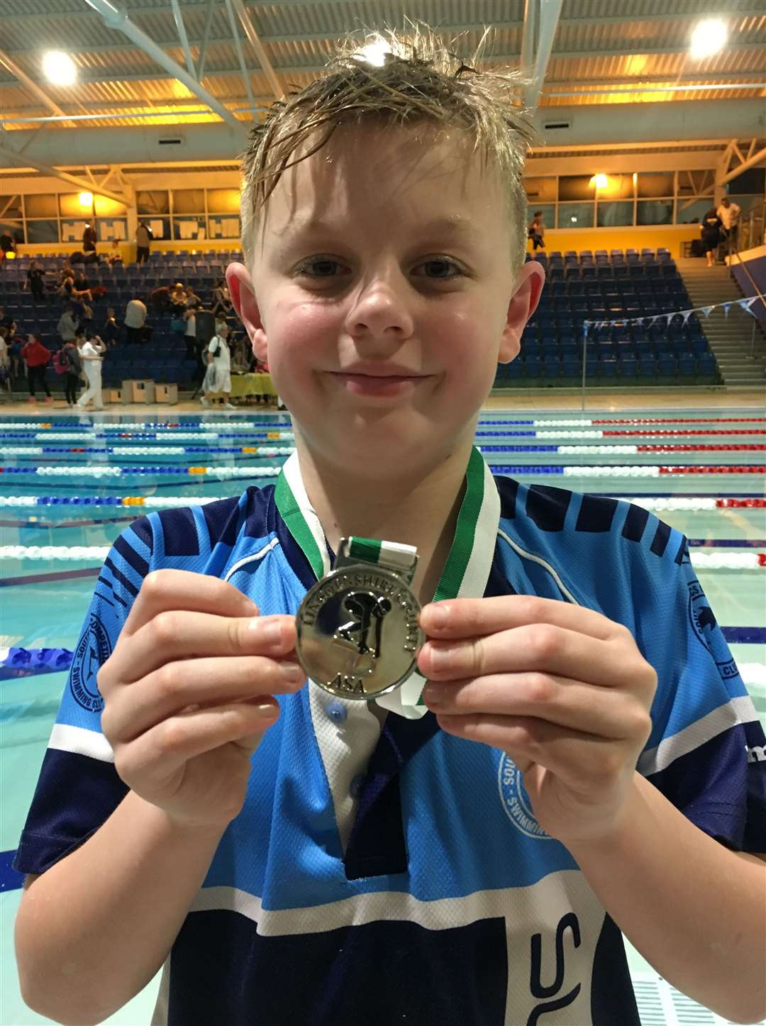 South Lincs Competitive Swimming Club medallist Aidan Evans.Photo supplied.