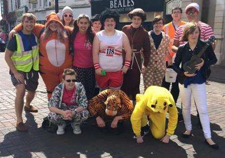 NCS teenagers raise money in Spalding town centre for Fenland autism charity Welcome2OurWorld in 2016.