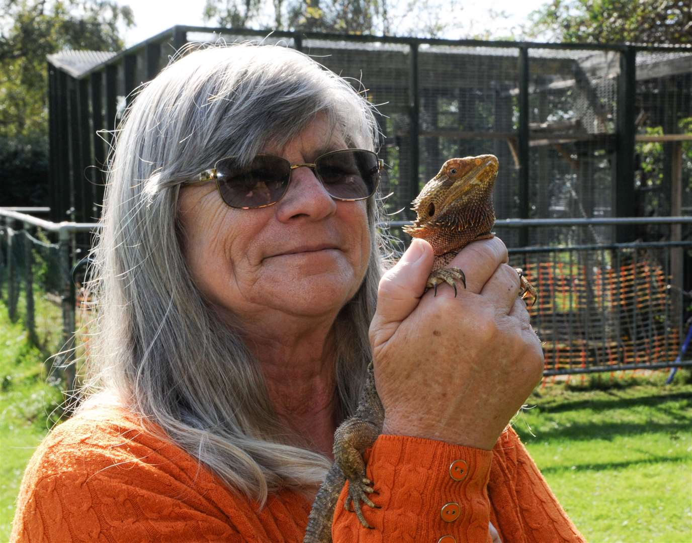 Pam Mansfield, owner of The Exotic Pet Refuge in Deeping St James, with one of her bearded dragon lizards. (41740242)
