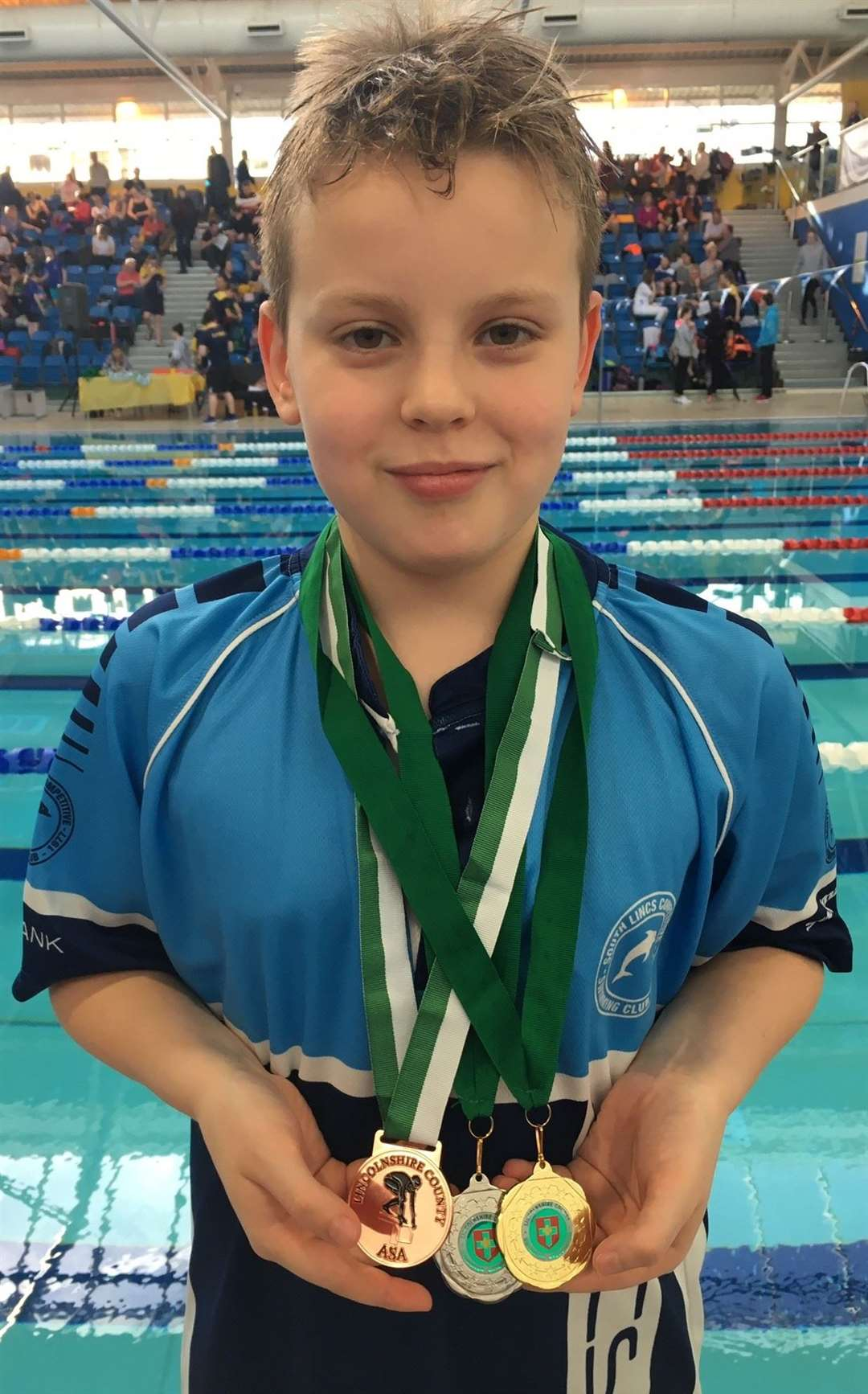 South Lincs Competitive Swimming Club medallist Frank Lamb.Photo supplied.