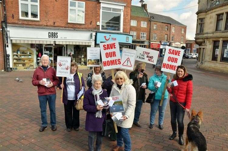 Members of SPARR (Spalding and Pinchbeck Against the Relief Road) were seeking public backing for their petition earlier this year