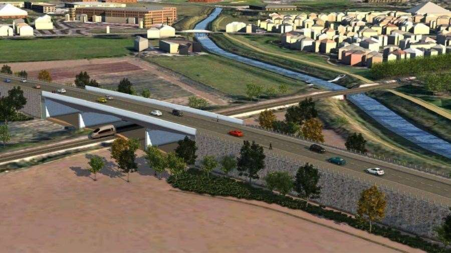 An artist's impression of the proposed Spalding Western Relief Road. Photo supplied. (10896791)
