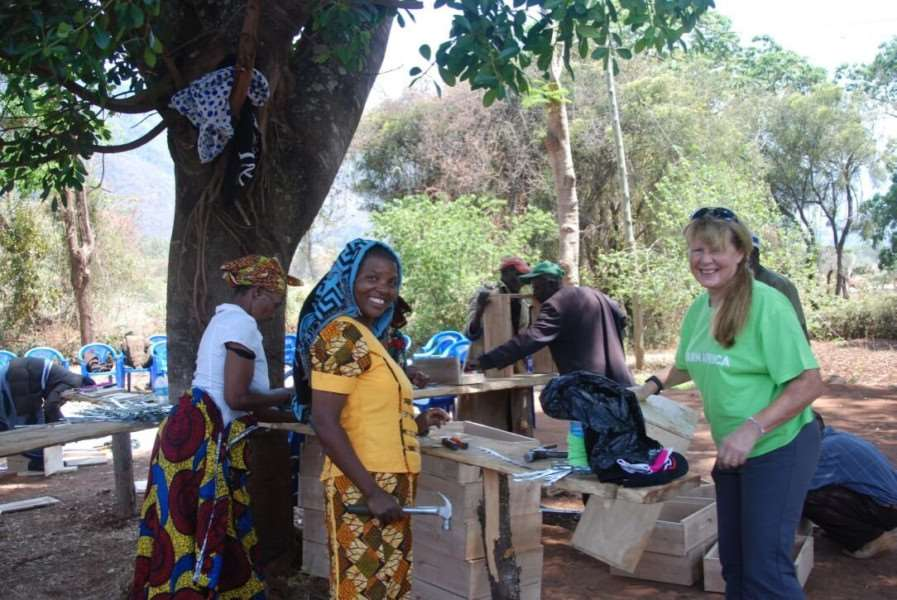 Ann Savage with one of the Bermi villagers