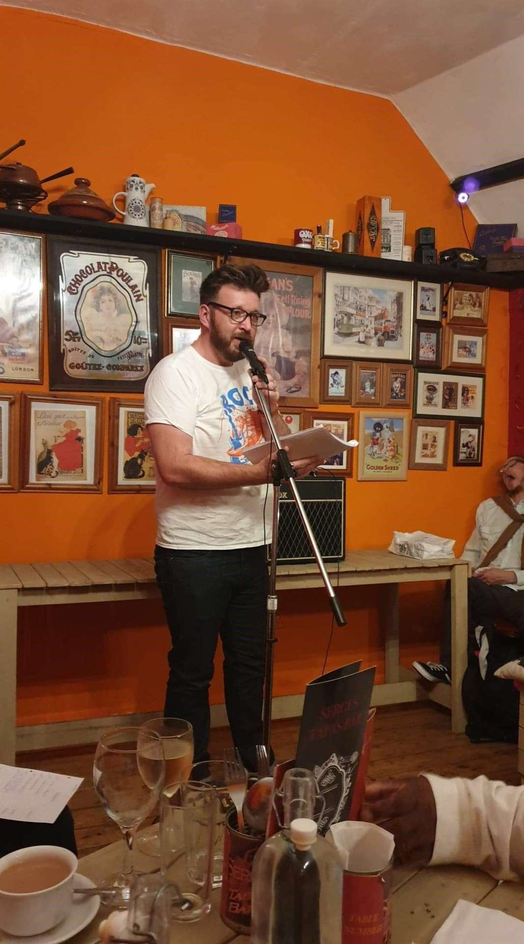 Ross McGivern performs at a previous White Horse Writers' open mic night. (22302889)