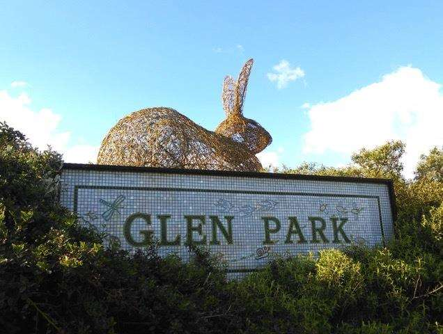 The new willow hares at Surfleet's Glen Park, that were created by artist Alison Walling. (2080342)