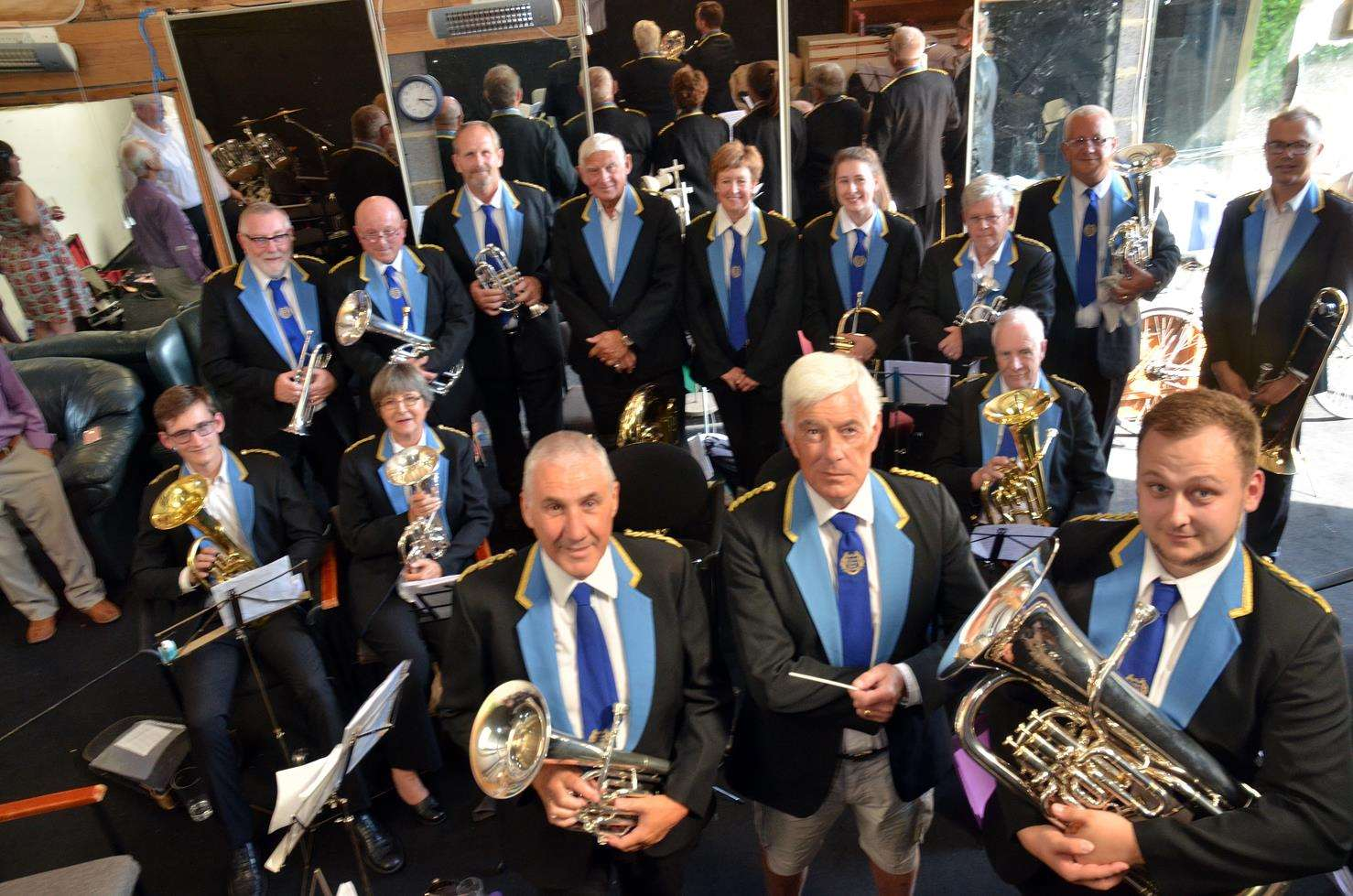 St Nicolas Players have formed a band who will wear the uniform of Murton Colliery Band, County Durham. Photo by Tim Wilson. 050818110SG
