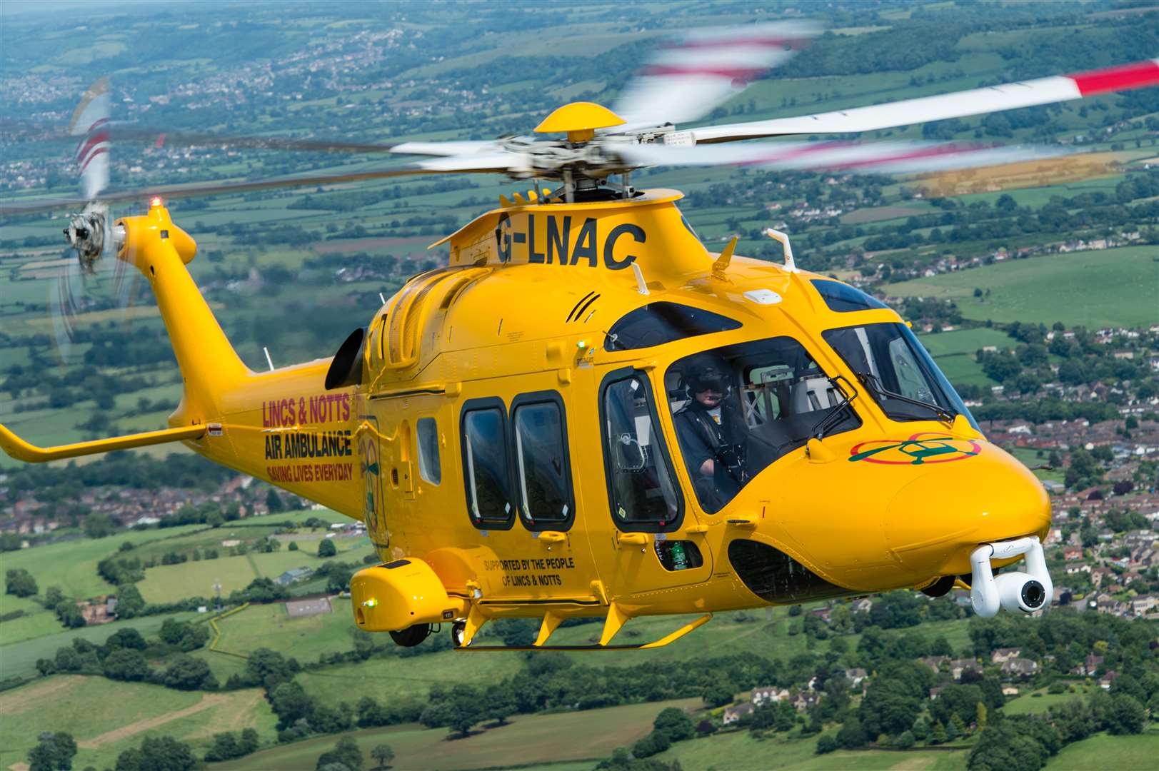 The Air Ambulance was called to Fleet Hargate: Phot: Ed Hicks. (28218177)