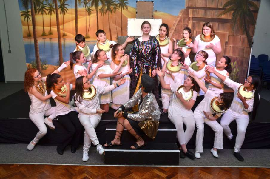 University Academy Holbeach cast for Joseph and the Amazing Technicolour Dreamcoat