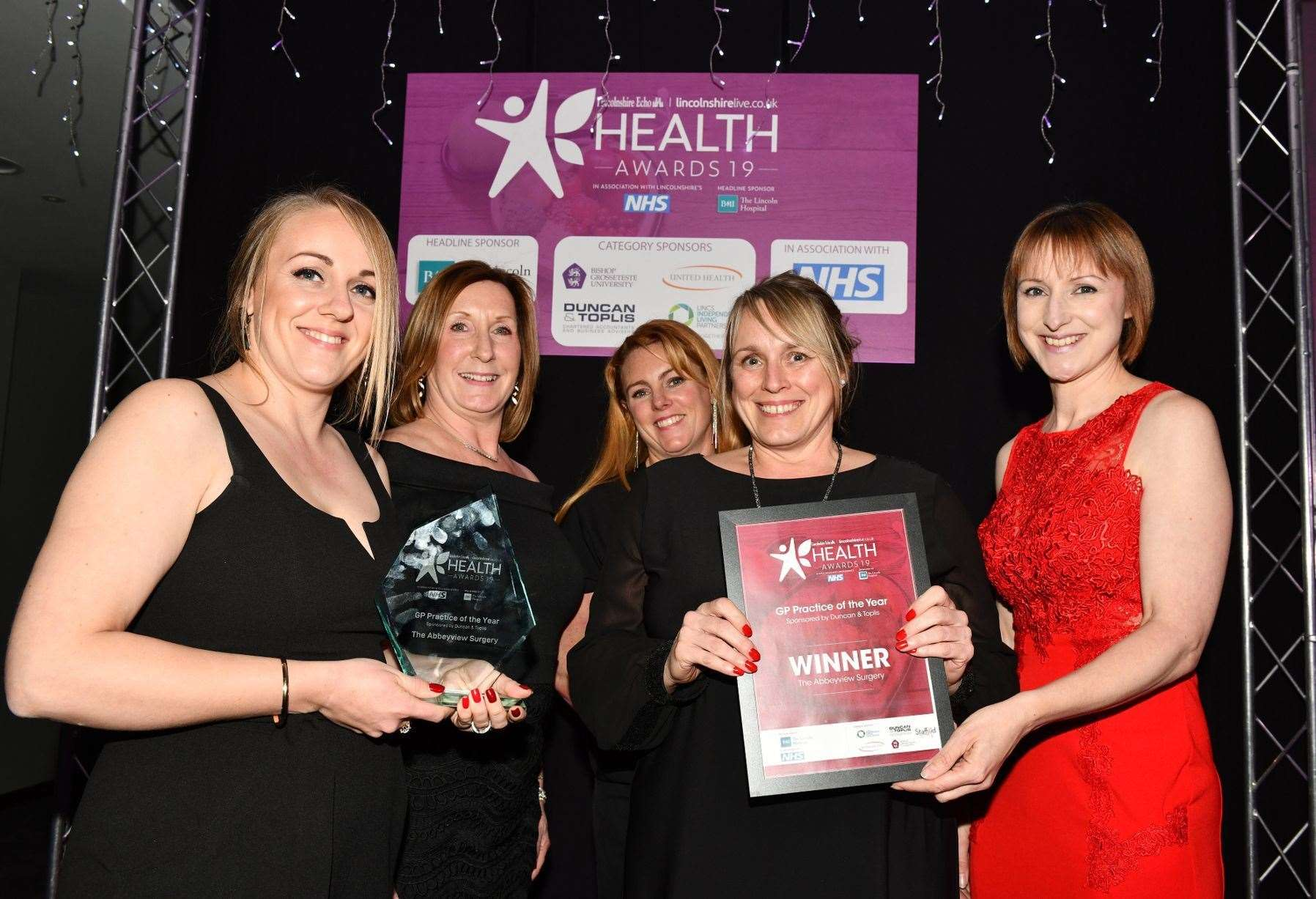 GP Practice of the Year in the Lincolnshire Health Awards was Abbeyview Surgery in Crowland. Image by Anna Draper, Lincolnshire Echo. (22225234)