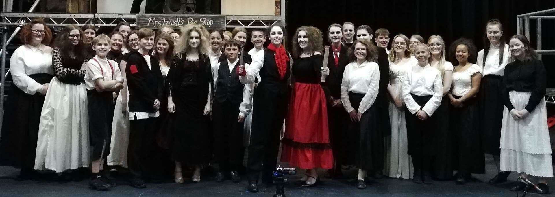 The cast of Act II Theatre Company's most recent production, Sweeney Todd: The Demon Barber of Fleet Street. Photo supplied. (8567788)