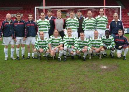 The Holbeach St Johns Exchange squad that reached the Lincs Sunday Cup Final against Tinted Barrel at Grimsby Town Football Club in 2006. Photo supplied by Holbeach United FC.
