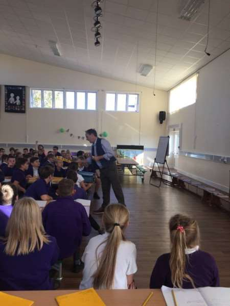 Author Billy Bob Buttons at Spalding Parish Church of England Day School