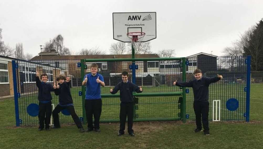 Priory School MUGA pupils