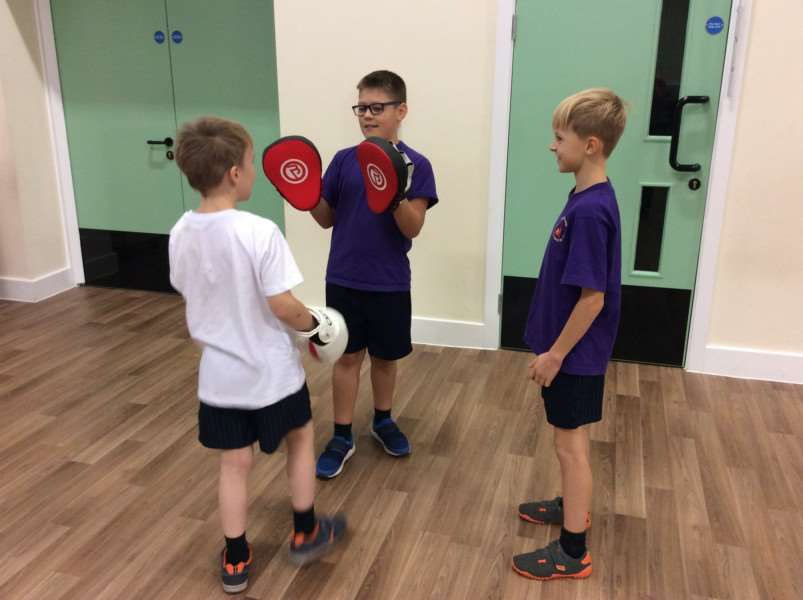 Boxercise at Spalding Parish Church of England Day School