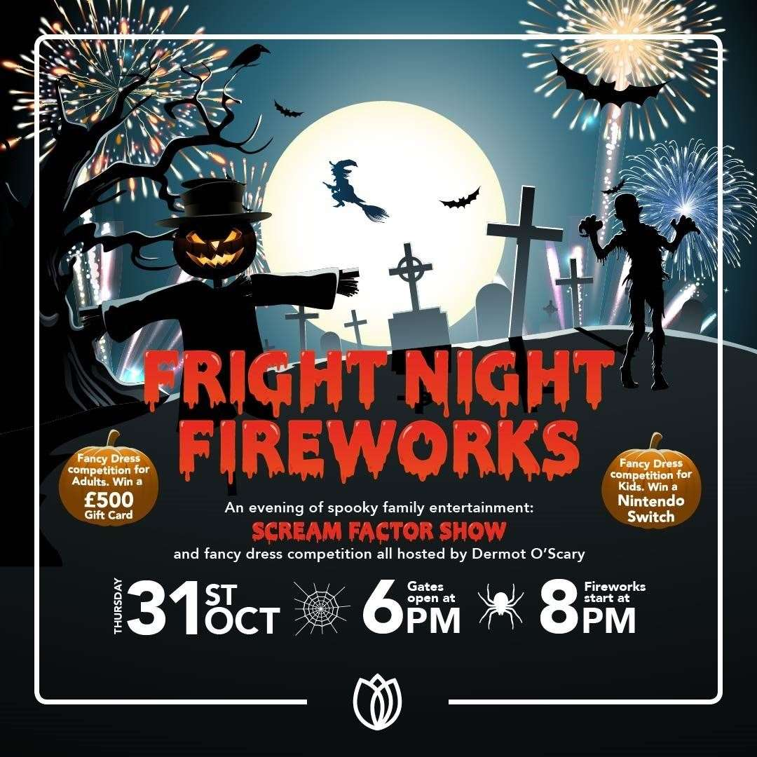 It's Fright Night Fireworks at Springfields Event Centre in Spalding tonight (Thurs).