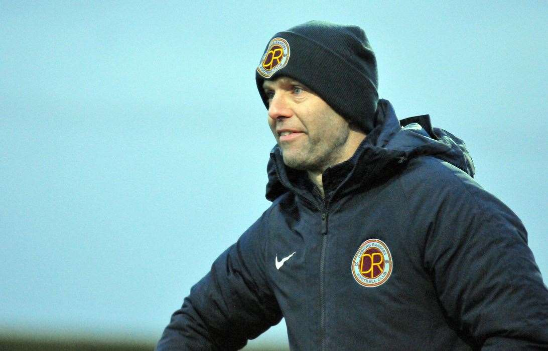 Deeping Rangers manager Michael Goode is expect a 'tough game' at Boston Town.Photo by Tim Wilson.