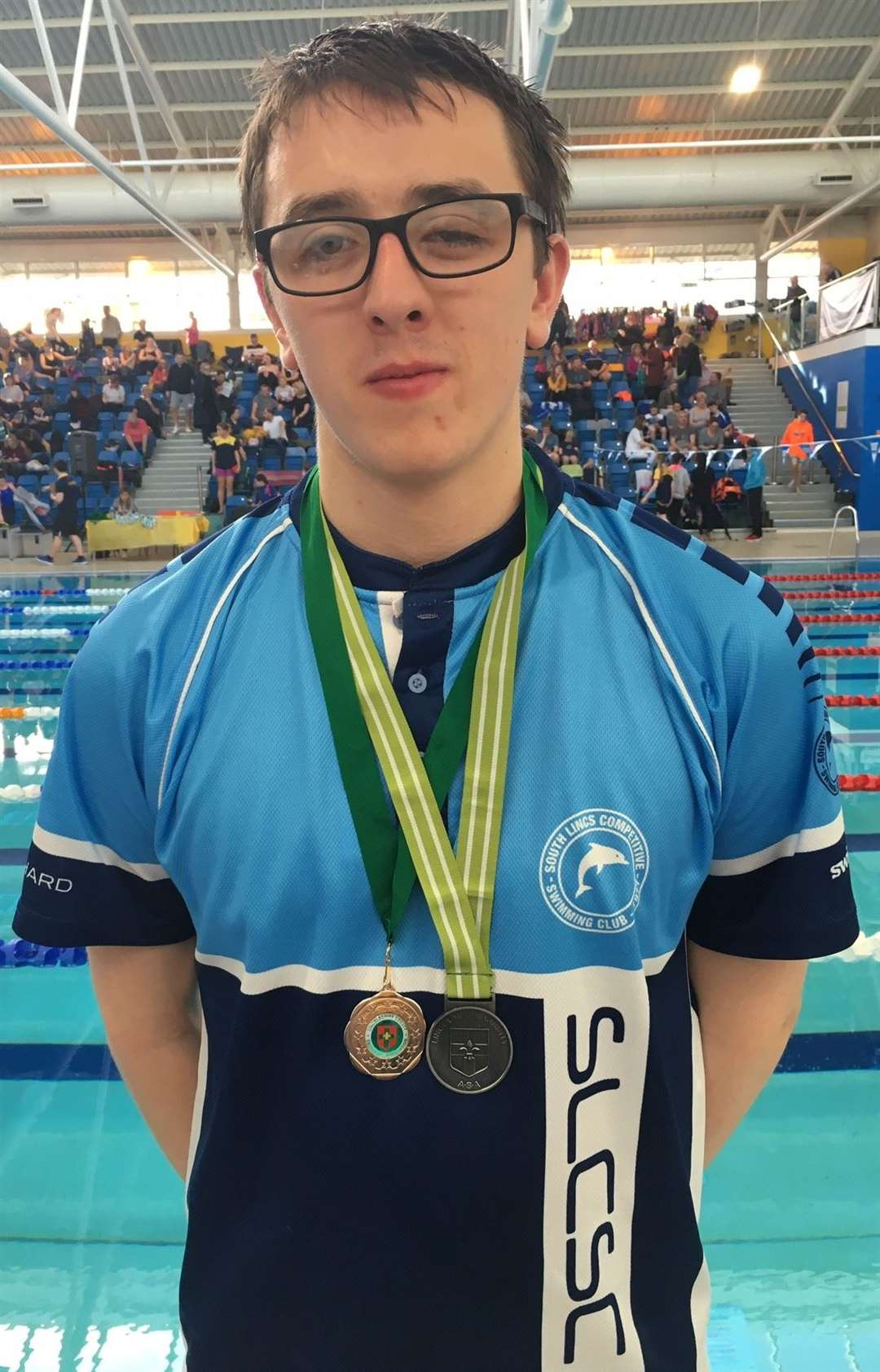 South Lincs Competitive Swimming Club medallist Luke Blanchard.Photo supplied.