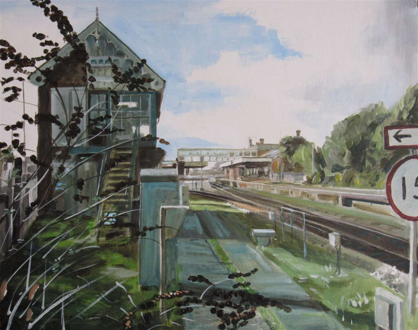 Artist Garry Ravenhall has a painting exhibition of unique sights around Sleaford at the town's Carre Gallery from Monday