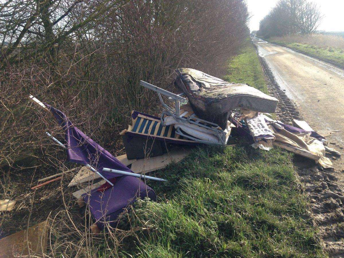 This fly-tip at Quadring Fen cost a man more than £1,600 when he appeared in court in November.