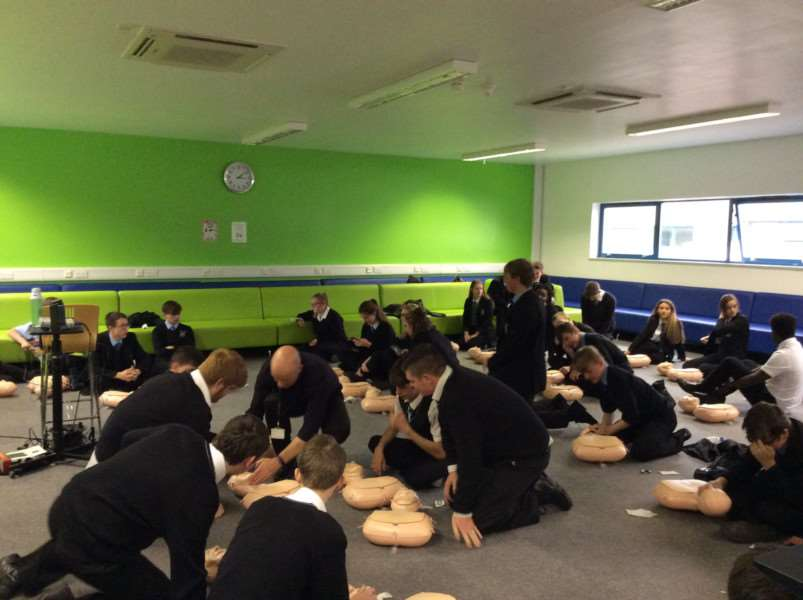 University Academy Holbeach sixth form student took part in a Restart the Heart day.