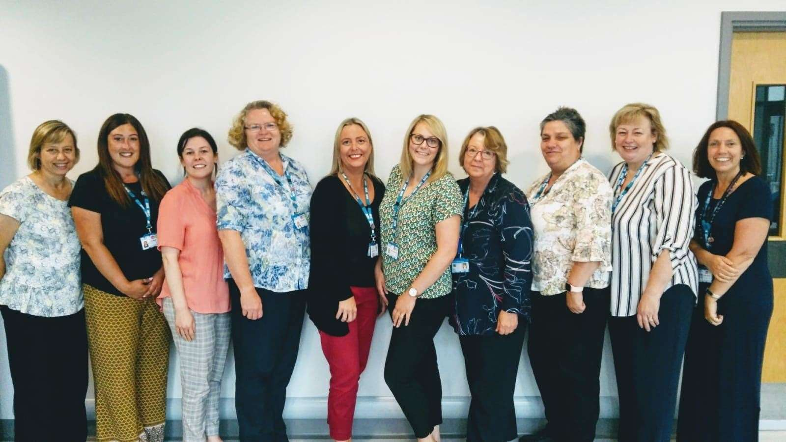 The shortlisted care coordination team who have been nominated for the HRH The Prince of Wales Integrated Approaches to Care Award. Pictured are (not in order): Ella Asher, Nicky Donley, Carly Fisher, Carolyn Griffin, Hilda Healy, Denise Holden, Rachel Ingam-Brown, Louise Johnson , Jessica Merritt and Louise Willson