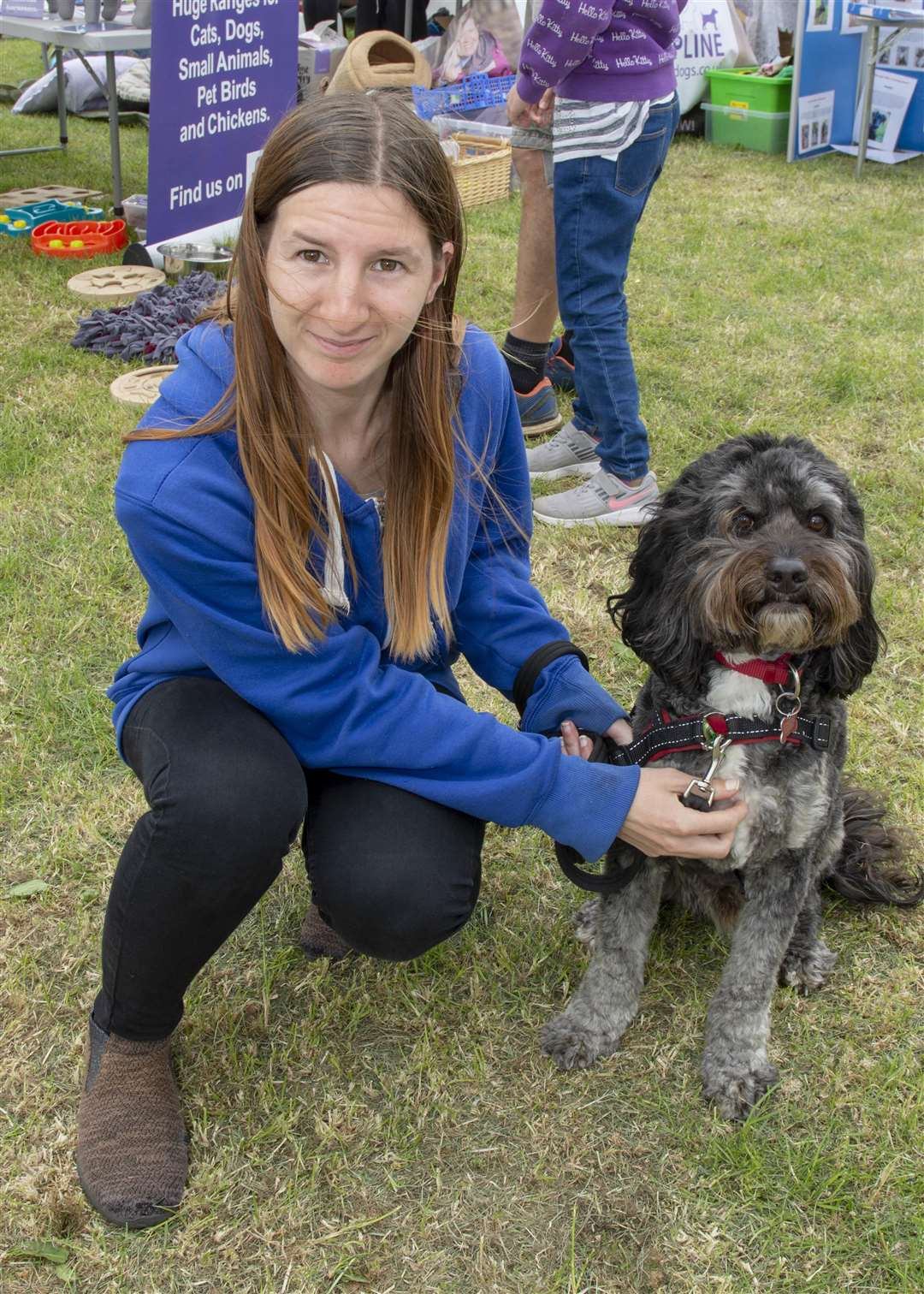 Abigail Clayton with Lupin at June's Deepings Dog Show. Photo: Lee Hellwing