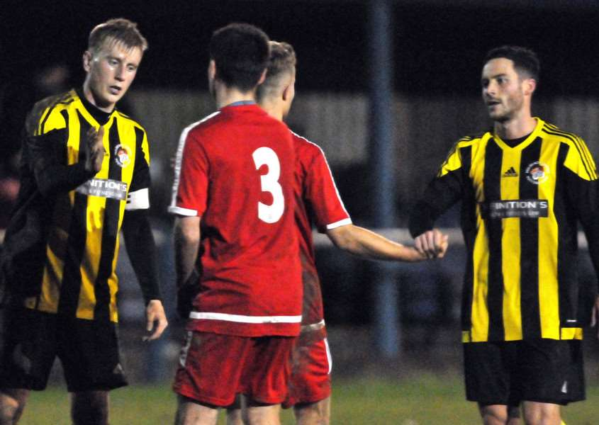 Holbeach captain Nick Jackson (left) reflects on an unhappy return to his former club Boston Town