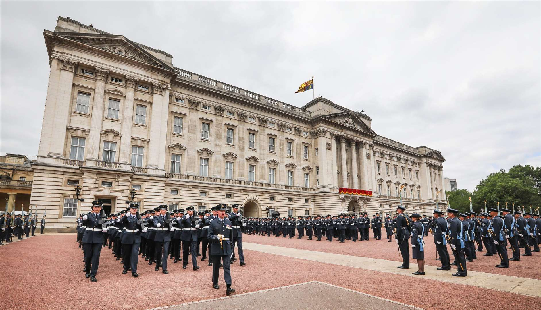 Buckingham Palace is a backdrop for a ceremony to mark 100 years of the RAF. Photo supplied.