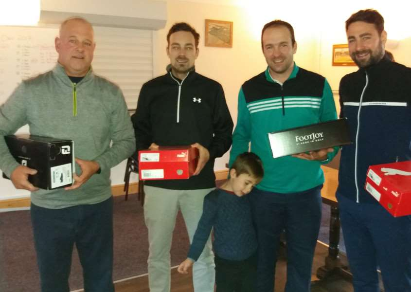 The Texas Scramble Open took place at Gedney Hill on Sunday with 19 teams. The winners were Luke Chilvers, Glen Chilvers, Jack Chilvers and Ben Coddington (pictured with Ethan Chilvers).