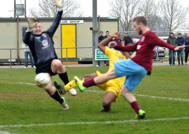 Scott Coupland is denied at Deeping