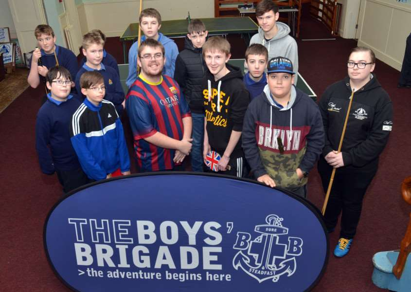 Competitors take a break from play at The Boys' Brigade annual indoor sports competition in Long Sutton Baptist Church. SG20018-326TW